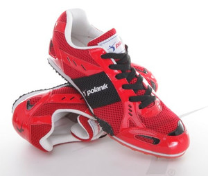 Polanik spikes for long and middle distances, red-black, model P2101BP