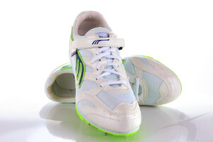 521-02 (long and triple jumps spikes, white-green)