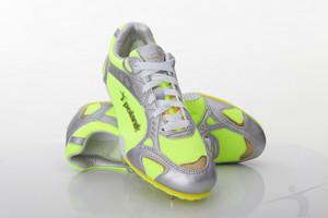 T2003P (Polanik high jump spikes, white-green/fluorescent)