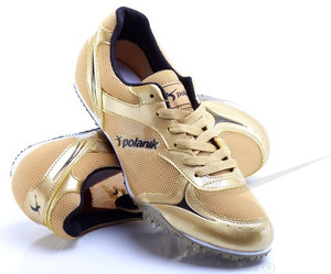 Polanik spikes for long and middle distances, gold, model PD5611AP