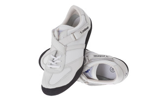504-03P (Polanik throwing shoes, shot-discus-hammer shoes, two straps, white-black)