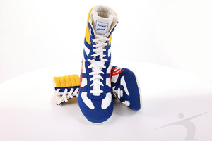 607-01 (boxing shoes, blue-white)