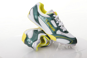 T2101AP (Polanik long jump spikes, white-green)
