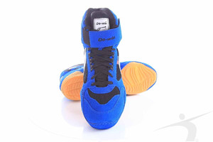 614-01B (wrestling shoes, blue-black)